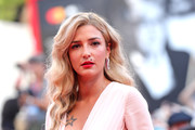"""Eleonora Carisi walks the red carpet ahead of the """"Marriage Story"""" screening during during the 76th Venice Film Festival at Sala Grande on August 29, 2019 in Venice, Italy."""