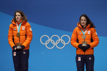Marrit Leenstra Medal Ceremony - Winter Olympics Day 4