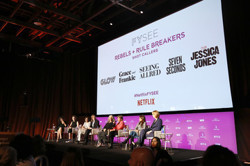 Marta Kauffman Carly Mensch Rebels And Rule Breakers Panel At Netflix FYSEE