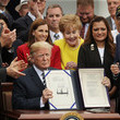 Martha McSally President Trump Holds Signing Ceremony For Veteran Affairs Mission Act of 2018