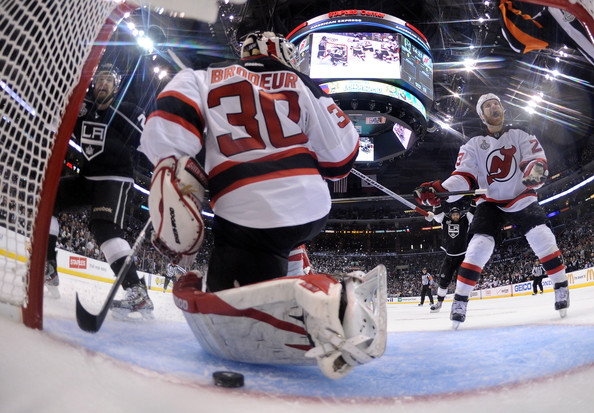 Martin Brodeur and Trevor Lewis Photos Photos - 2012 NHL Stanley Cup ... 305dd5a78