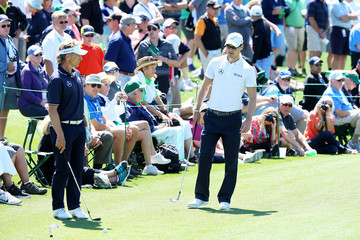 Martin Kaymer Bernhard Langer The Masters - Preview Day 2