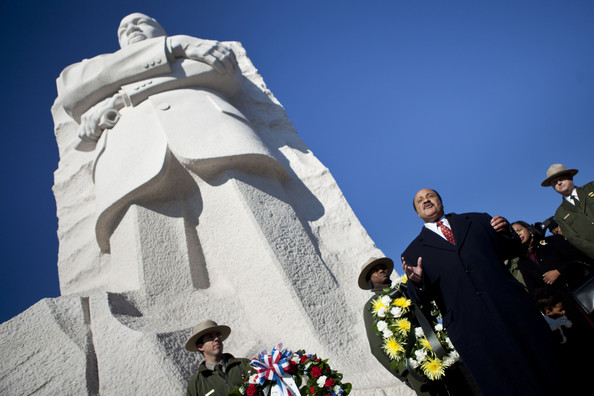 Nat'l Park Service Holds Wreath Laying Ceremony At Martin Luther King Jr. Memorial