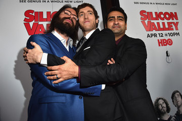Martin Starr Kumail Nanjiani Premiere Of HBO's 'Silicon Valley' Season 2 - Red Carpet