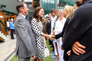 Martina Navratilova The Duchess of Cambridge Visits the All England Lawn Tennis and Croquet Club