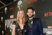 "Deborah Ann Woll and Ben Barnes attend Marvel's ""The Punisher"" Los Angeles Premiere at ArcLight Hollywood on January 14, 2019 in Hollywood, California."