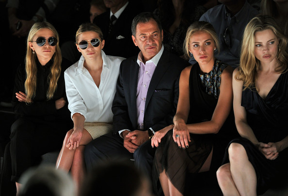J.Mendel Spring 2012 Fashion Show [j.mendel spring 2012 fashion show,beth whitson,melissa george,actresses,ashley olsen,mary-kate olsen,alec gore,l-r,fashion,fashion model,beauty,vision care,eyewear,suit,formal wear,event,haute couture,sunglasses,lincoln center,new york city]