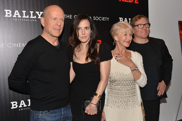 'Red 2' Screening in NYC — Part 3 [red 2,event,premiere,smile,arrivals,dean parisot,actors,helen mirren,mary-louise parker,bruce willis,l-r,cinema society and bally host a screening of summit entertainment,the cinema society]