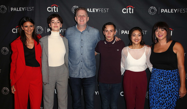 The Paley Center For Media's 2018 PaleyFest Fall TV Previews - Netflix - Arrivals [paleyfest fall tv previews,event,red,premiere,team,arrivals,amy okuda,keir gilchrist,mary rohlich,robia rashid,brigette lundy-paine,l-r,netflix,paley center for media]