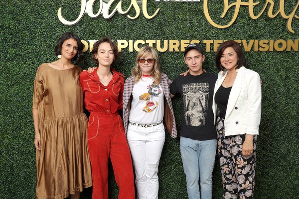 Sony Pictures Television's Emmy FYC Event 2019 'Toast to the Arts' [social group,fashion,event,fashion design,style,bridgette lundy-paine,keir gilchrist,jennifer jason leigh,robia rashid,mary rohlich,toast,arts,l-r,sony pictures television,emmy fyc event]