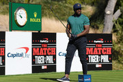 NFL player Reggie Bush plays a shot during the Pro-Am Tournament for The Match: Tiger vs Phil at Shadow Creek Golf Course on November 24, 2018 in Las Vegas, Nevada.