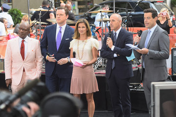Matt Lauer Carson Daly Adam Duritz of Counting Crows