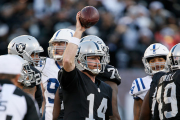 Matt McGloin Indianapolis Colts v Oakland Raiders