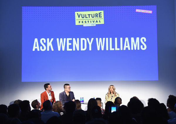 Vulture Festival Presented By AT&T - Milk Studios, Day 1 [event,public speaking,academic conference,convention,collaboration,company,font,projection screen,presentation,brand,wendy williams,bowen yang,matt rogers,l-r,new york city,milk studios,at t,vulture festival]