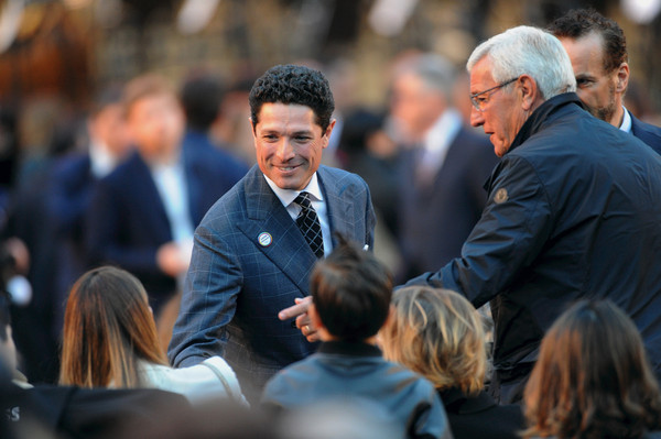 Opening Event - Expo 2015 [people,event,crowd,human,white-collar worker,businessperson,job,audience,suit,gesture,matteo marzotto,marcello lippi,l-r,milan,italy,piazza duomo,event,opening event expo]