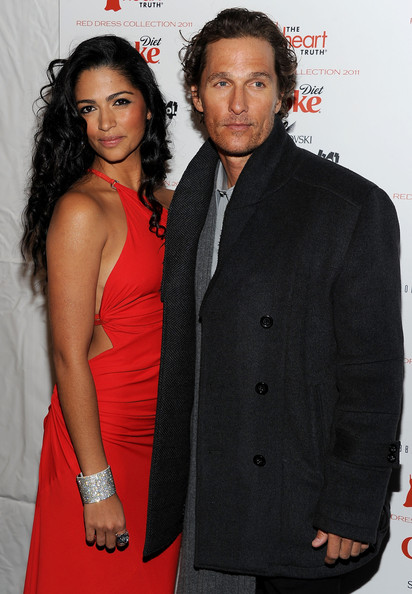 Matthew McConaughey Model Camila Alves (L) and actor Matthew McConaughey attend the Heart Truth's Red Dress Collection 2011 during Mecerdes-Benz fashion week at The Theatre at Lincoln Center on February 9, 2011 in New York City.