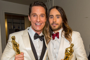 Matthew McConaughey Jared Leto Backstage at the 86th Annual Academy Awards