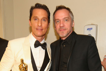 Matthew McConaughey Jean-Marc Vallée Backstage at the 86th Annual Academy Awards