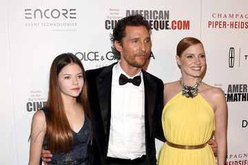 Matthew McConaughey Jessica Chastain Arrivals at the American Cinematheque Award — Part 2