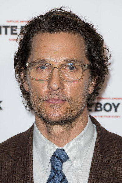 """""""White Boy Rick"""" Special Screening - Arrivals [white boy rick,hair,facial hair,chin,hairstyle,forehead,white-collar worker,beard,eyewear,glasses,moustache,special screening - arrivals,matthew mcconaughey,screening,england,london,picturehouse central]"""