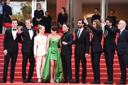 "(L-R) Pier-Luc Funk, Antoine Pilon, Nancy Grant, Catherine Brunet, Xavier Dolan, Gabriel D'Almeida Freitas, Samuel Gauthier, Adib Alkhalidey and General Delegate Thierry Fremaux attend the screening of ""Matthias Et Maxime (Matthias and Maxime)"" during the 72nd annual Cannes Film Festival on May 22, 2019 in Cannes, France."
