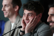 "Pier-Luc Funk and director Xavier Dolan attend the ""Matthias et Maxime (Matthias and Maxime)"" Press Conference during the 72nd annual Cannes Film Festival on May 23, 2019 in Cannes, France."