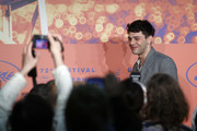 """Director Xavier Dolan attends the """"Matthias et Maxime (Matthias and Maxime)"""" Press Conference during the 72nd annual Cannes Film Festival on May 23, 2019 in Cannes, France. (Photo by Ian Langsdon/EPA-EFE/Pool/Getty Images)"""