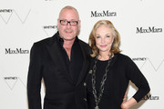 William Sofield (L) and Trustee of the Whitney Museum of Art Joanne Leonhardt Cassullo attend the Max Mara, presenting sponsor's, celebration of the opening of The Whitney Museum Of American Art at it's new location on April 24, 2015 in New York City.