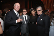 Ian Griffiths, Creative Director for Max Mara (C), Maria Giulia Maramotti, US Director of Retail for Max Mara and Giorgio Guidotti (R) attend the Max Mara Whitney Bag Launch Party at Top of the Standard Hotel on April 22, 2015 in New York City.