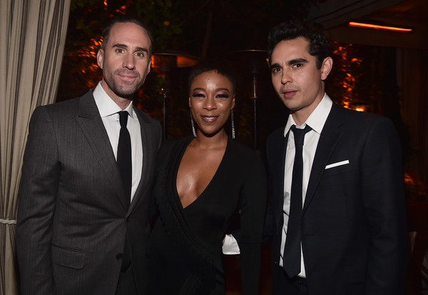 Premiere Of Hulu's 'The Handmaid's Tale' Season 2 - After Party [the handmaids tale,suit,event,formal wear,fashion,tuxedo,white-collar worker,smile,night,dinner,max minghella,joseph fiennes,samira wiley,hulu,l-r,party,party,premiere,premiere]