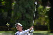 Ryo Ishikawa of Japan plays his second shot on the 13th hole during day four of the Maybank Championship Malaysia at Saujana Golf and Country Club on February 4, 2018 in Kuala Lumpur, Malaysia.