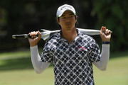 Ryo Ishikawa of Japan looks for his ball on the 13th hole during day four of the Maybank Championship Malaysia at Saujana Golf and Country Club on February 4, 2018 in Kuala Lumpur, Malaysia.