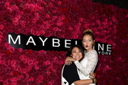 Makeup artist Grace Lee and Gigi Hadid attend Maybelline New York Celebrates New York Fashion Week at Sixty Five on September 13, 2015 in New York City.