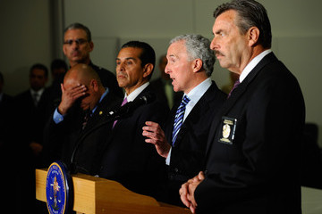 Ed Reyes Mayor Villaraigosa And LAPD Chief Charlie Beck Announce Increased Security At Dodgers Stadium