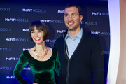Wanda Badwal and Wladimir Klitschko attend the McFit Models Launch during Mercedes-Benz Fashion Week Autumn/Winter 2014/15 on January 14, 2014 in Berlin, Germany.