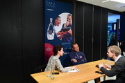Laureus Academy Member Cafu during an interview at the Mercedes Benz Building prior to the Laureus World Sports Awards on February 16, 2020 in Berlin, Germany.