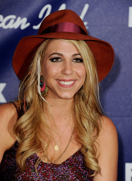 Singer Elise Testone arrives at Fox's American Idol finalist party at The Grove on March 1, 2012 in Los Angeles, California.
