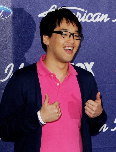 Singer Heejun Han arrives at Fox's American Idol finalist party at The Grove on March 1, 2012 in Los Angeles, California.