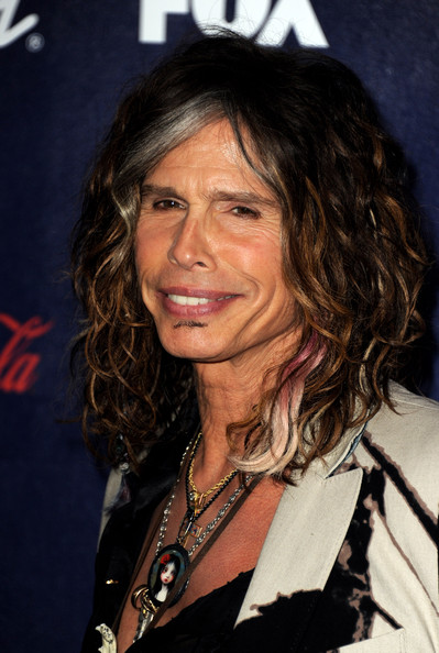 Singer Steven Tyler arrives at Fox's American Idol finalist party at The Grove on March 1, 2012 in Los Angeles, California.