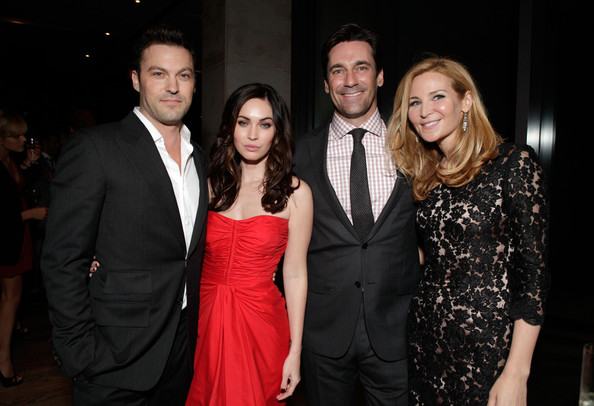 "Megan Fox (L-R) Actors Brian Austin Green, Megan Fox, Jon Hamm and director/actress Jennifer Westfeldt attend Toast The Cast Of ""Friends With Kids"" reception, hosted by Michael Kors, Vanity Fair's Krista Smith and Red Granite Pictures at Jamie Kennedy Center at the Gardiner Museum on September 9, 2011 in Toronto, Canada."