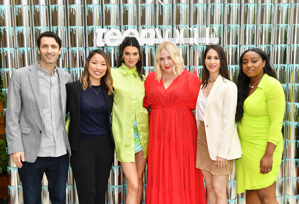 Kendall Jenner Joins Proactiv And Teen Vogue At Paint Positivity: Because Words Matter Event In NYC On June 20th [paint positivity: because words matter,social group,people,event,youth,community,friendship,team,fun,leisure,smile,rachel mazarian,panelists,kendall jenner,kelly bales,teen vogue,nyc,kendall jenner joins proactiv,event,event]