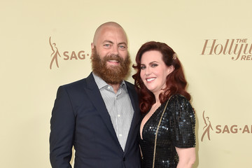 Megan Mullally Nick Offerman The Hollywood Reporter And SAG-AFTRA Celebrate Emmy Award Contenders At Annual Nominees Night - Arrivals