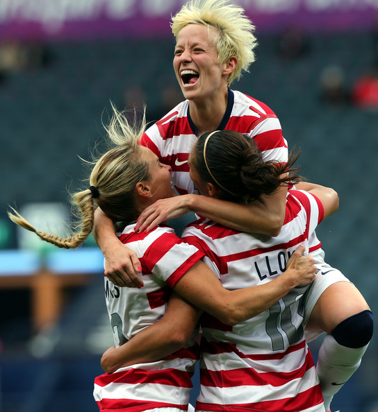 Megan Rapinoe Alex Morgan And Carli Lloyd Of Usa Photos