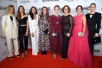 Megan Rapinoe Tobin Heath 2019 Glamour Women Of The Year Awards - Arrivals And Cocktail