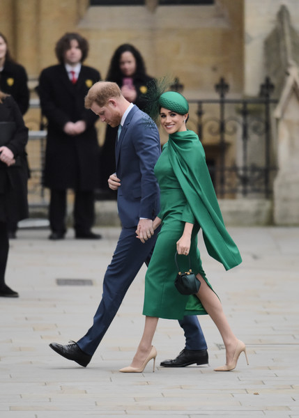 Commonwealth Day Service 2020 [green,fashion,yellow,street fashion,event,footwear,dance,outerwear,photography,dress,harry,meghan,service,fashion,commonwealth,sussex,countries,duchess,duke of sussex,commonwealth day service,shoe,socialite,haute couture]