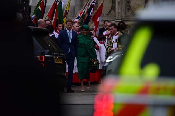 Commonwealth Day Service 2020 [green,red,event,parade,public event,flag,festival,ceremony,tradition,uniform,harry,meghan,service,flag,commonwealth,sussex,countries,duchess,duke of sussex,commonwealth day service,flag,crowd,recreation]