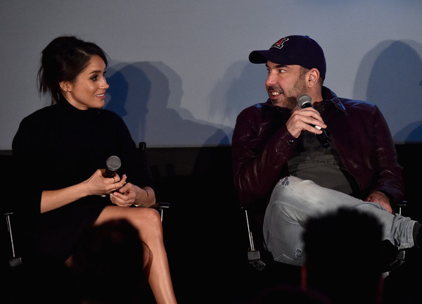 Premiere of USA Network's 'Suits' Season 5 - Inside [season,sitting,conversation,event,interaction,performance,photography,actors,rick hoffman,meghan markle,suits,q a,sheraton los angeles downtown hotel,usa network,premiere,premiere]