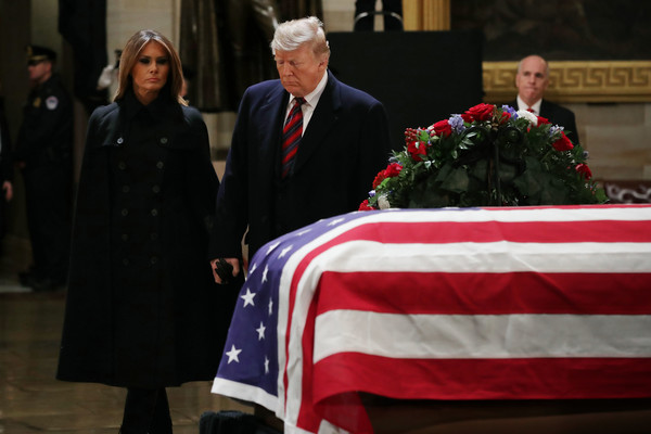 President George H.W. Bush Lies In State At US Capitol