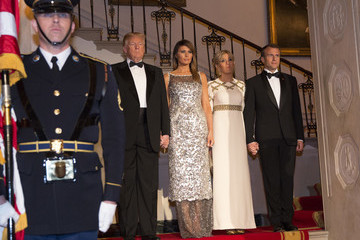Melania Trump Trump And First Lady Hosts State Dinner For French President Macron And Mrs. Macron