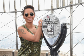 Melanie Brown Mel B Visits the Empire State Building in Celebration of the 10th Anniversary Season of 'America's Got Talent'